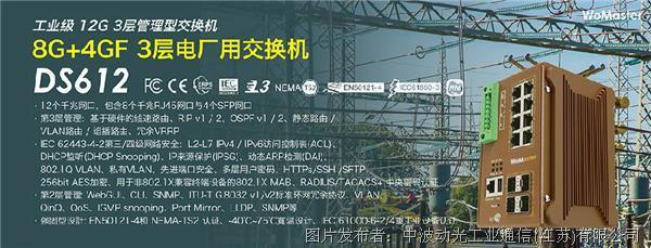 DS612 工业级12G 3层电厂用路由交换机