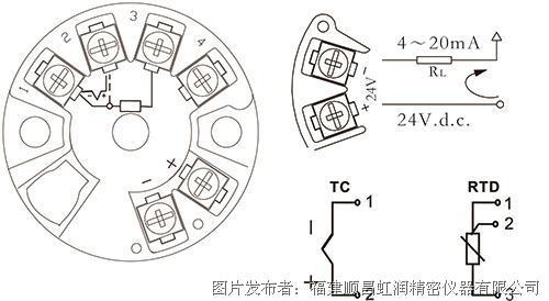 虹润NHR-215隔离HART智能温度变送器(圆卡)