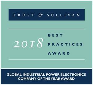 "TMEIC荣获Frost & Sullivan ""2018年度工业电力电子领域全球企业最优秀奖"""