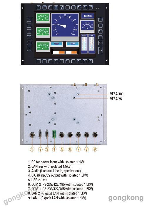 艾讯科技轨道交通专用无风扇触控平板电脑GOT710-837