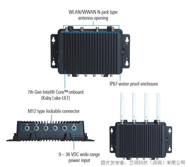 艾讯科技Kaby Lake强固型IP67无风扇嵌入式系统eBOX800-511-FL适用户外关键任务