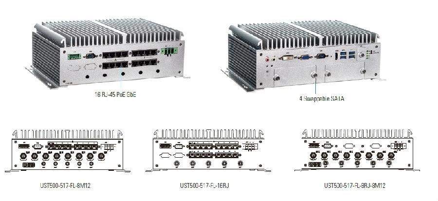 艾讯科技推出16-PoE模块化嵌入式系统UST500-517-FL符合交通认证