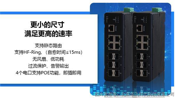 【更小的尺寸、满足更高的速率】HF-IES-4000系列网管型卡轨式交换机