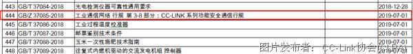 CC-Link IE safety 正式取得中國國家標準