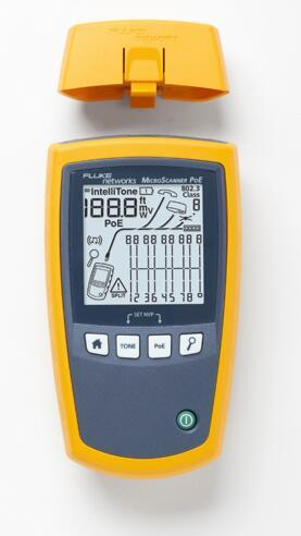 福禄克网络推出以太网供电(PoE)设备安装和故障诊断测试仪MicroScanner PoE