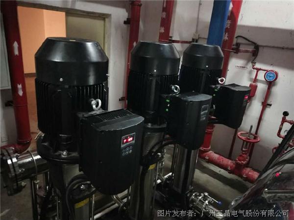 三晶电气PD20变频器助力小区供水,让您更省心