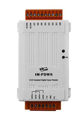 泓格8通道隔离型数字输入模块新品上市: tM-PDW8