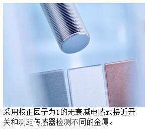 校正因子为1的堡盟电感式传感器:检测或定位任何金属,精度高达1微米