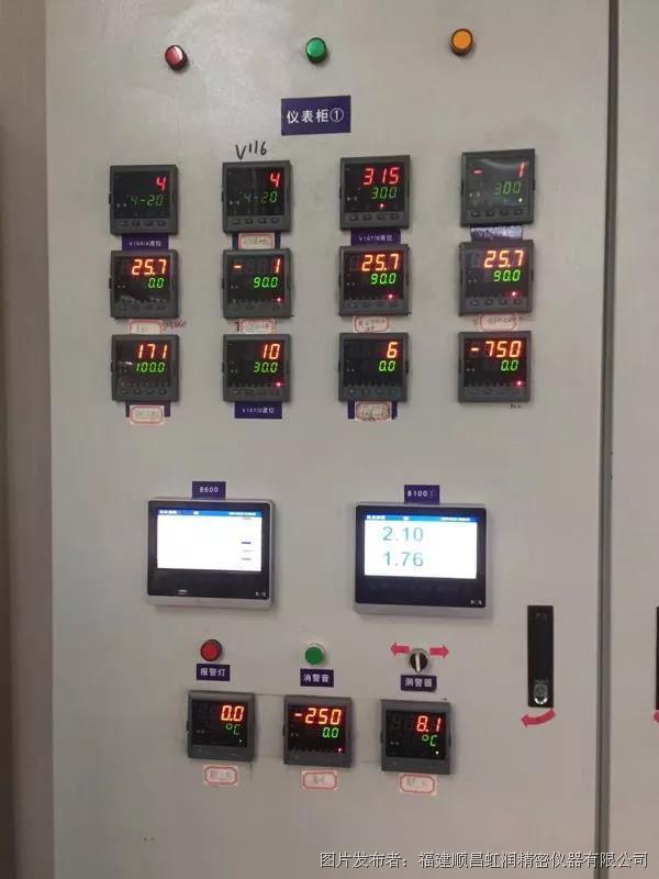 虹润NHR-8700C系列32触摸式数据采集无纸记录仪在耐火材料厂中的应用