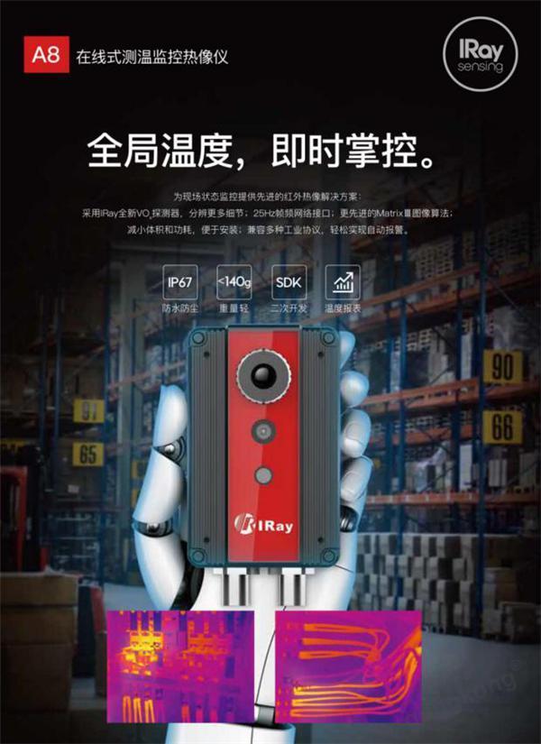 IRay A8在線式測溫監控熱像儀