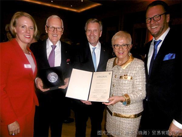 洪狄马(Dietmar Harting)获得最高荣誉
