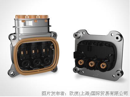 歐度推出90°出線的三芯高壓連接器