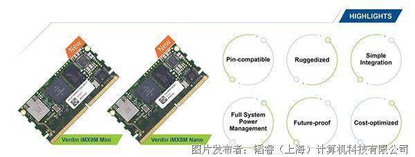Toradex 發布采用 NXP i.MX 8M MiniNano 的 Verdin 模塊