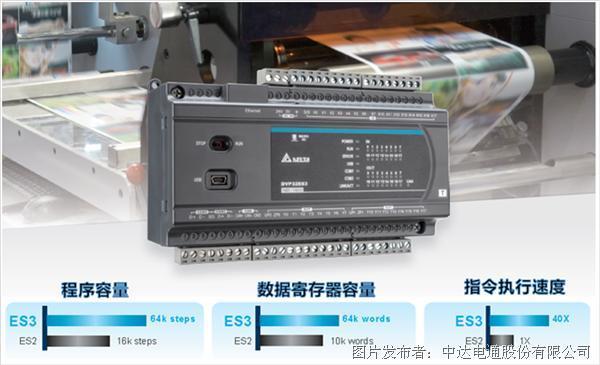 台达推出第三代标准型控制器DVP-ES3系列