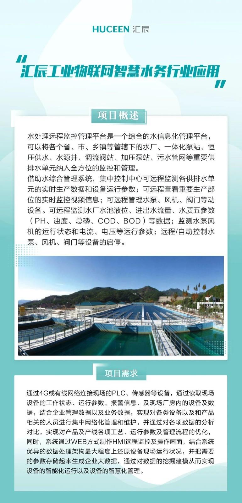 【行业应用案例-04】汇辰工业物联网在智慧水务行业中的应用