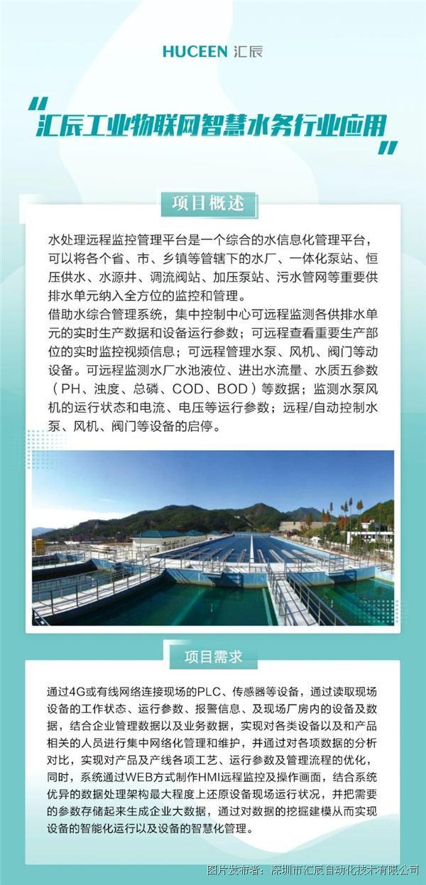 【行業應用案例-04】匯辰工業物聯網在智慧水務行業中的應用