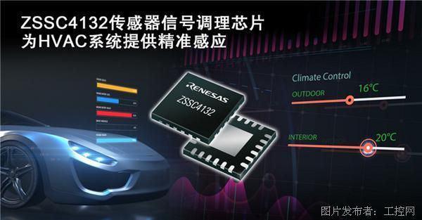 瑞萨电子推出集成LIN输出接口的传感器信号调理芯片