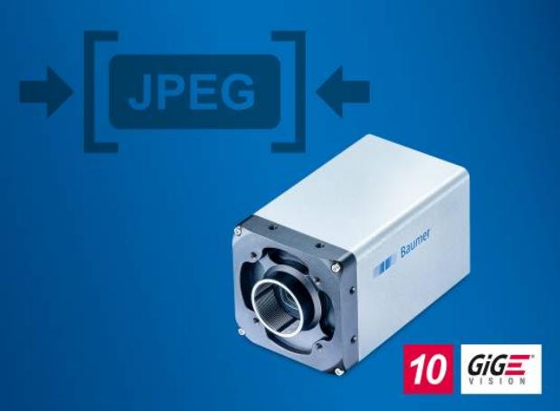 堡盟推出集成JPEG图像压缩技术的高速GigE相机