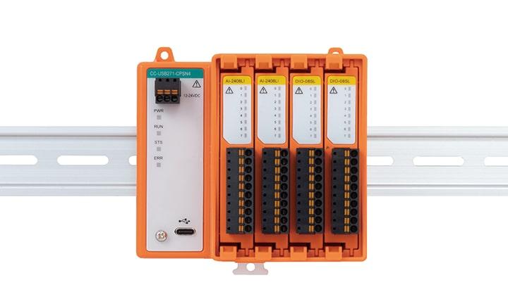 可以自由组合所需I/O功能模块的USB连接的模块化I/O单元CC-USB271-CPSN4