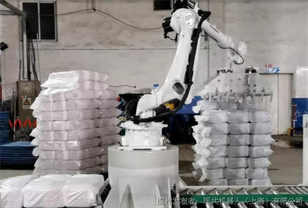 紡織行業   HS220筒子紗碼垛搬運項目解決方案