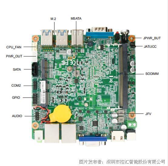 控汇EP-2390工业级低功耗嵌入式主板